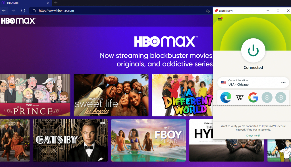 HBO max in canada with vpn